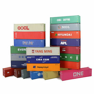 C8746 HO Scale 1:87 40ft Shipping Container 40' Cargo Box Model Railway Layout