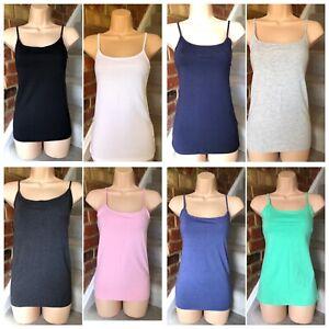 Lady's Primark Stretch Vest Top Adjustable Straps Ladies Vest BNWT