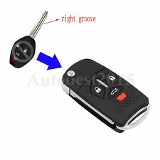 4 3+1 Buttons Flip Remote Key Shell For 07-10 Mitsubishi Eclipse Galant Lancer
