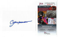 CUBS Andre Dawson signed 3x5 index card JSA COA AUTO Autographed 1987 MVP