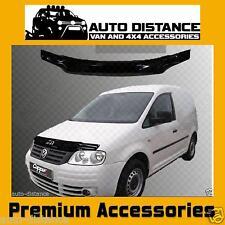 VW Caddy Bonnet Protector Bug Guard Solid Black Acrylic 2004-2009