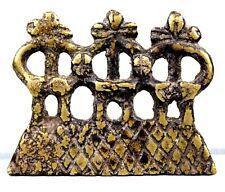 Art Africain Afrique - Pendentif Amulette Koulango Kulango en Bronze - 6,2 Cms
