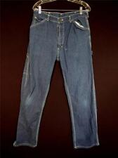 Vintage 1970'S Grand Smith Coton Bleu Denim Menuisiers Pantalon Taille 32 INCH