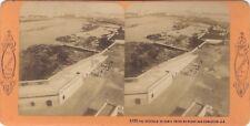 Espagne Cadix Panorama Photo J. Andrieu Stereo Vintage albumine ca 1870