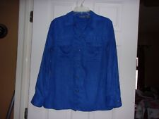 Chicos Shirt/Jacket - Front Snap Closure - Size 1 - Worn only one time!