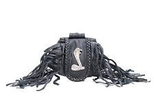 Cobra Snake Folding Belt Pouch, Genuine Leather Money Wallet New, Free Shipping