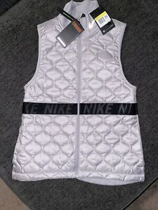 Nike AeroLayer Womens Size S Gray Insulation Running Vest $100 NWT #BV3869-059