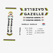 Gazelle Champion Mondial Bicycle Decals, Stickers n.761 Black