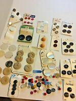 Vintage Plastic Sewing Buttons Lot Variety Cards Loose Collection SKU Button #5
