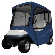 Classic Accessories Fairway Golf Cart Travel Enclosure  Navy  Short Roof