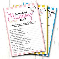 12 x Baby Shower Games Who Knows Mummy Best 12 Pack - Boy / Girl / Unisex