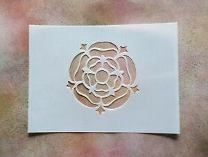 A5 Tudor Rose Shape Mylar Stencil - Shabby Chic Rustic Vintage Wall Furniture