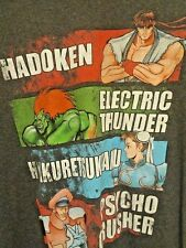 Mens STREETFIGHTER TWO Vintage Arcade Game Graphic Tee Shirt XL Charcoal Grey