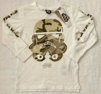 Star Wars Disney Boys White T Shirt Top Sizes 4 & 9 BRAND NEW WITH TAGS