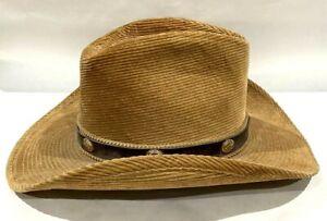 Resistol Self Conforming Suede Corduroy Western Hat Brown