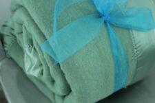 Coming Home Wool Blanket Washable Green Wide Satin Binding