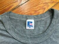 Vintage Russell Athletic T Shirt Thin Soft Gray Men XL Crewneck Distressed 90's