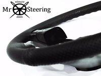 Para Toyota Corolla E90 87-93 Cuero Perforado Cubierta para Volante Doble Stch