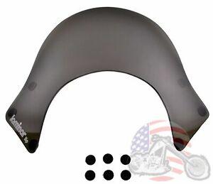 Laminar Smoked Lip Windshield Windscreen Shield Harley Dyna Sportster Softail