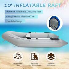 10' Inflatable Raft for 4 Adults Boat for Fishing Playing More on Rivers Lakes