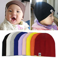 Baby Kinder Unisex Strickmütze Beanie Strick Mütze Baumwolle Hut Kids Hat Caps