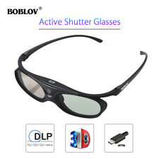 3D Active Shutter Glasses DLP-Link 96/144Hz Theater Black For BenQ Dell Sharp
