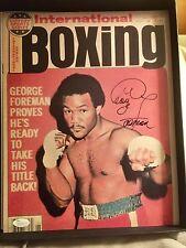George Foreman Signed Autographed 11x14 photo JSA Heavyweight Boxing Champion
