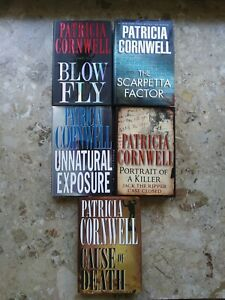 Patricia Cornwell Hardcover Book Lot of 5 Different Titles #2