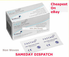 FastAid 70%25 IPA Alcohol Wipes Pre-Injection Syringe Swabs Like Alcotip TATTOO