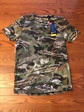 Under Armour Men's Threadborne HeatGear Forest Camo Short Sleeve T-Shirt SMALL