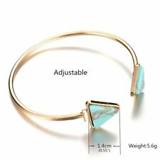 Bracelets Triangle Bangle Women Open Cuff Bracelet Turquoise Gold Plated