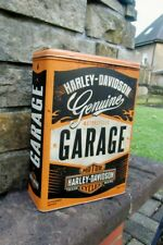 Official HARLEY-DAVIDSON Motorcycles GARAGE Tin Storage / Lunch Box Container