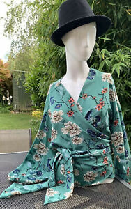 Ladies Primark Kimono Wrap Style Blouse Size 14