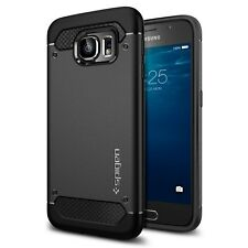 Spigen Galaxy s6 caso Capsula Ultra Robusto Nero (PET)