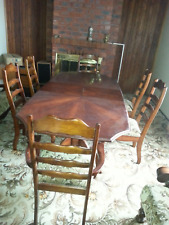 Solid Timber Expandable Dining Table and Chairs