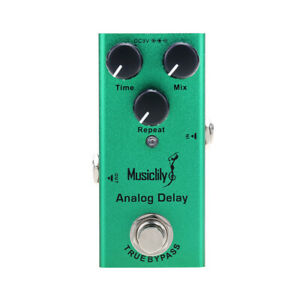 Musiclily Basic Analog Delay Mini Guitar Effect Pedal DC 9V Adapter True Bypass
