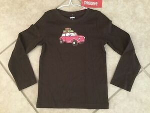 New Gymboree Fall Homecoming Road Trip Pink Car Glitter Top Size 5