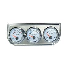 "2"" inch Triple Gauge kit Water Temp+Voltmeter+Oil Pressure with Sensor Car Meter"