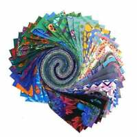 "Kaffe Fassett Collective 2020 Cool, Design Roll, 2.5"" Fabric Quilting Strips"