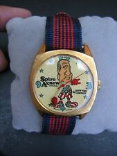 Vtg ONE ORIGINAL Spiro Agnew Dirty Time Co Watch WORKS NEW Old Stock Wind Up