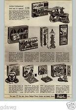 1966 PAPER AD Game James Bond Lost In Space Bop Punching Bag Yogi Woody Superman