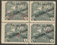 FIUME Costituente Fiumana 1922 Sassone 186 variety MNH **