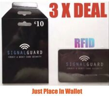 3X Signal Guard®️Included RFID Wireless Illegal Credit/Debit Card Reader Blocker