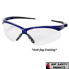 SAFETY GLASS CLEAR ANTI-FOG LENS BLUE FRAME SPORT JACKSON NEMESIS 47384 (1 PAIR)