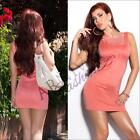 SEXY WOMEN SLEEVELESS TOP MINI DRESS PARTY EVENING SUMMER BODYCON COCKTAIL SLIM