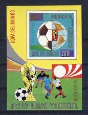 s5142) GUINEA ECUATORIAL 1974 MNH** WC Football -Coppa Mondo Calcio S/S IMPERF