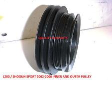 Mitsubish Shogun L200 Engine Crank Pulley & outer Crankshaft Pully + BELTS NEW