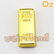 Gold Bar USB Stick, 8GB Quality Metal Waterproof USB Flash Drives WeirdLand