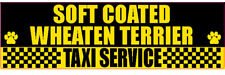 Soft Coated Wheaten Terrier Taxi Service Dog Sticker