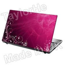 "15,6 ""Laptop piel cubierta Sticker Decal Floral Rosa 106"